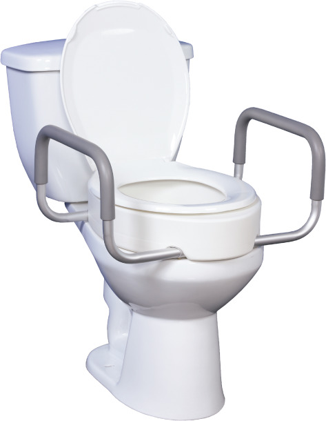 Raised Toilet Seat Premium with Removable Arms
